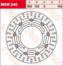 TRW Remschijf MSW246