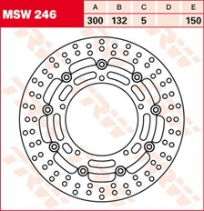 TRW MSW Zwevende remschijf MSW246