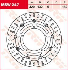 TRW Disque de frein MSW247