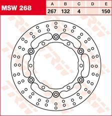 TRW Disque de frein MSW268