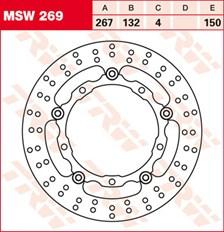 TRW Disque de frein MSW269