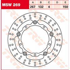 TRW MSW Zwevende remschijf MSW269