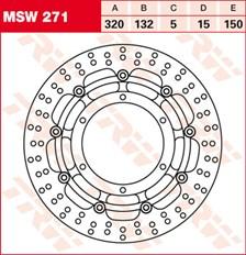 TRW MSW Disque de frein flottant MSW271