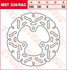 TRW MST disque fixe avec RAC design MST236RAC
