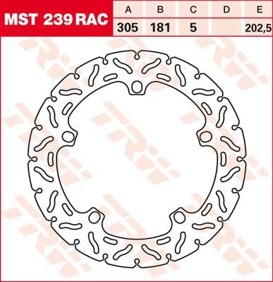 TRW MST disque fixe avec RAC design MST239RAC