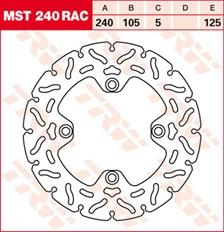 TRW MST vaste remschijf RAC design MST240RAC