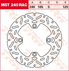 TRW Disque de frein MST240RAC