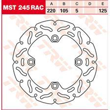 TRW MST vaste remschijf RAC design MST245RAC