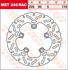 TRW Remschijf MST246RAC