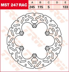 TRW Remschijf MST247RAC