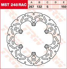 TRW Remschijf MST248RAC