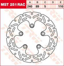 TRW Remschijf MST251RAC