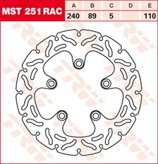 TRW MST disque fixe avec RAC design MST251RAC