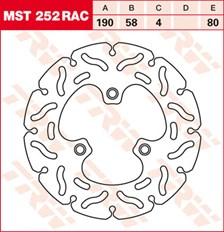 TRW MST disque fixe avec RAC design MST252RAC