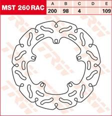 TRW MST disque fixe avec RAC design MST260RAC