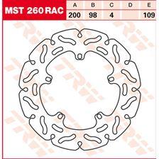 TRW MST vaste remschijf RAC design MST260RAC