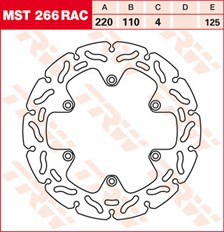 TRW MST disque fixe avec RAC design MST266RAC