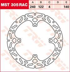 TRW MST disque fixe avec RAC design MST305RAC