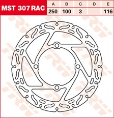 TRW MST disque fixe avec RAC design MST307RAC