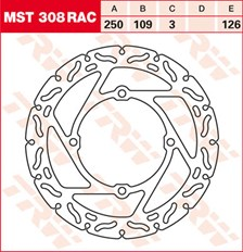 TRW MST disque fixe avec RAC design MST308RAC