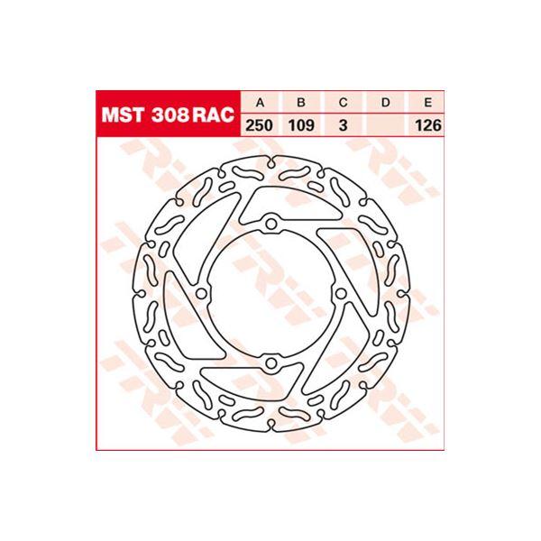TRW MST vaste remschijf RAC design MST308RAC