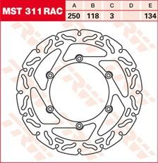 TRW Disque de frein MST311RAC