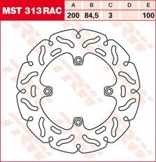 TRW MST disque fixe avec RAC design MST313RAC