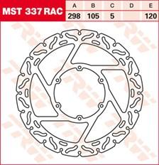 TRW Remschijf MST337RAC