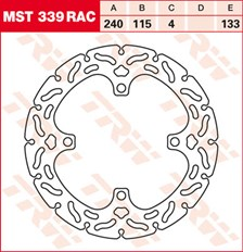 TRW MST disque fixe avec RAC design MST339RAC