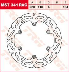 TRW MST disque fixe avec RAC design MST341RAC