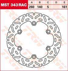 TRW MST disque fixe avec RAC design MST343RAC