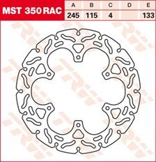 TRW MST disque fixe avec RAC design MST350RAC