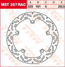 TRW Remschijf MST357RAC
