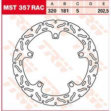 TRW MST disque fixe avec RAC design MST357RAC