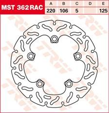 TRW Disque de frein MST362RAC
