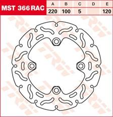 TRW MST disque fixe avec RAC design MST366RAC