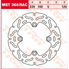 TRW MST vaste remschijf RAC design MST366RAC