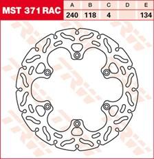 TRW MST disque fixe avec RAC design MST371RAC