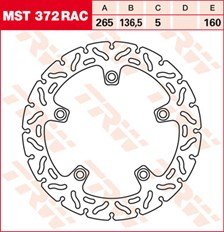 TRW Remschijf MST372RAC