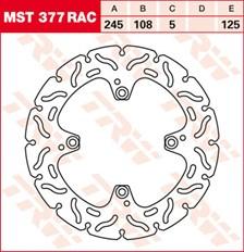 TRW MST disque fixe avec RAC design MST377RAC