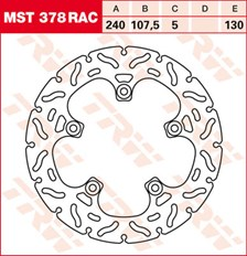 TRW Disque de frein MST378RAC
