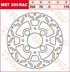 TRW MST vaste remschijf RAC design MST390RAC