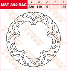 TRW MST disque fixe avec RAC design MST392RAC