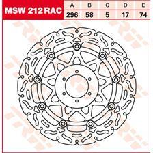 TRW MSW zwevende remschijf RAC design MSW212RAC