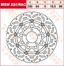 TRW MSW disque de frein flottant RAC design MSW220RAC