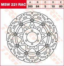 TRW MSW disque de frein flottant RAC design MSW221RAC