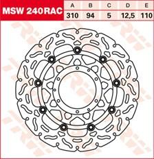 TRW Disque de frein MSW240RAC