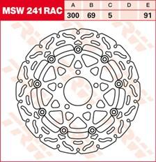 TRW MSW disque de frein flottant RAC design MSW241RAC