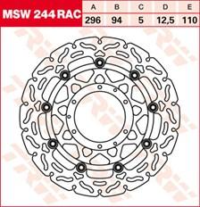 TRW MSW disque de frein flottant RAC design MSW244RAC