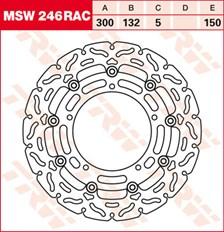 TRW MSW disque de frein flottant RAC design MSW246RAC